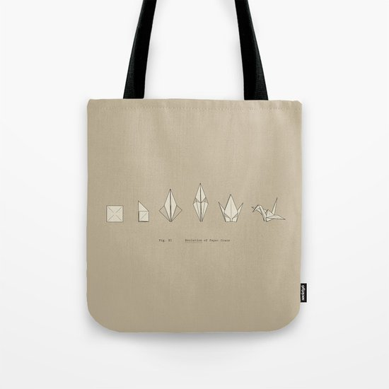 Evolution of Paper Crane Tote Bag