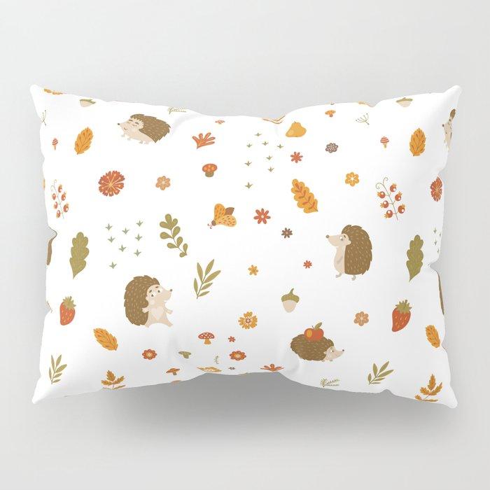 children hedgehog pattern, forest design Pillow Sham