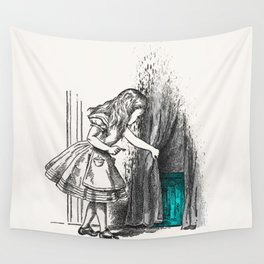 Follow The White Rabbit Wall Tapestry