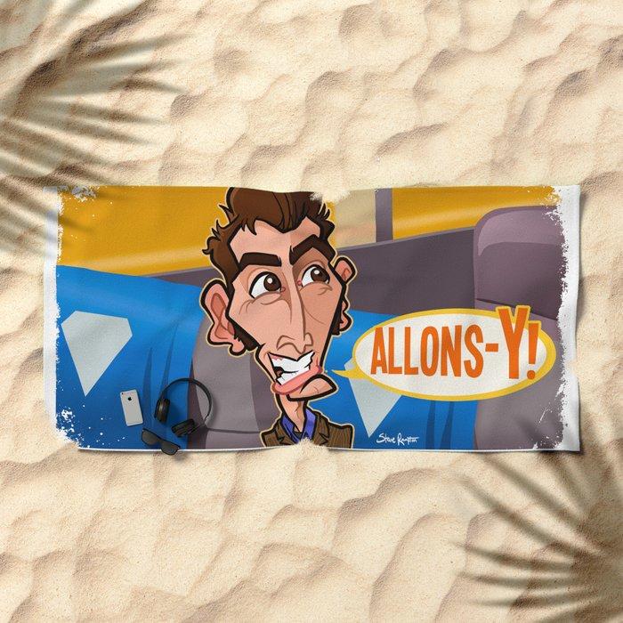Allons-y Beach Towel