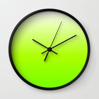 lime green Wall Clocks featuring Lime by haroulita