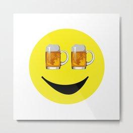 Happy Hour Face Metal Print