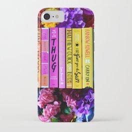 Rainbow Book Spines iPhone Case