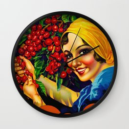 Vintage Brazil Coffee Ad Wall Clock