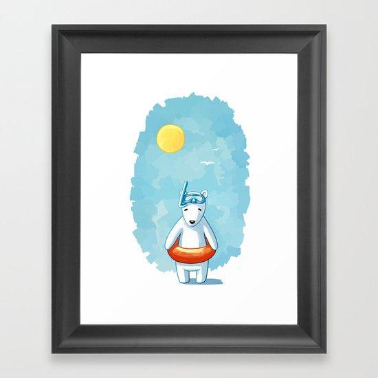 Polar Beach Framed Art Print