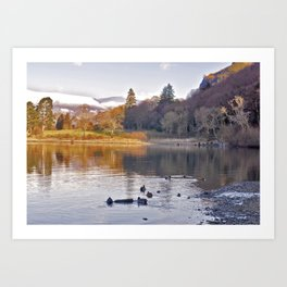 By the Lakeside - Derwent Water Art Print