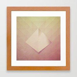 Suspended Pyramid Framed Art Print