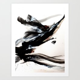 Day 9: A hurried life is an unexamined life. An unexamined life is a reckless life... Art Print
