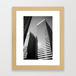 Can you spot the airplane? Framed Art Print