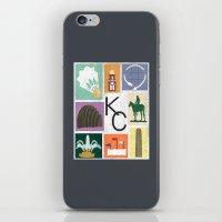 kansas city iPhone & iPod Skins featuring Kansas City Landmark Print by Jenna Davis Designs