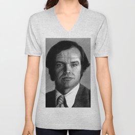 Jack Nicholson Portrait Unisex V-Neck