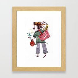 Grimhilde the Grocery Witch  Framed Art Print