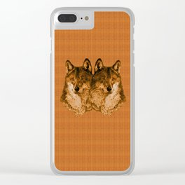 Season of the Wolf - Duet in Gold Clear iPhone Case