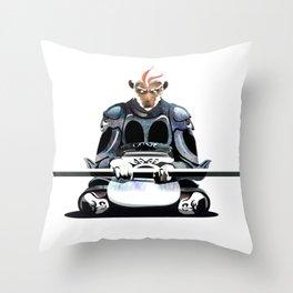 White Monkey King Throw Pillow