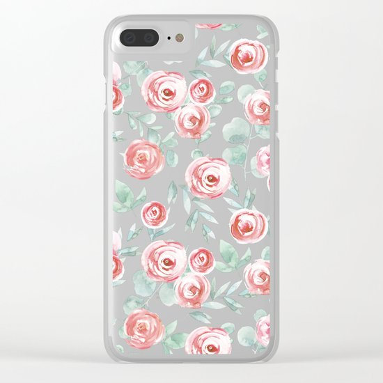 Red Roses Clear iPhone Case