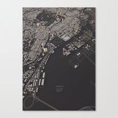 Tokyo city map Canvas Print
