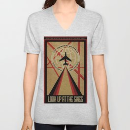 Look up at the Skies (Chemtrails) Unisex V-Neck