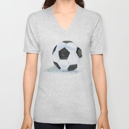Soccer Ball Watercolor Unisex V-Neck