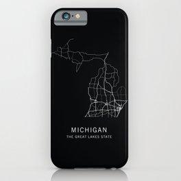 Michigan State Road Map iPhone Case