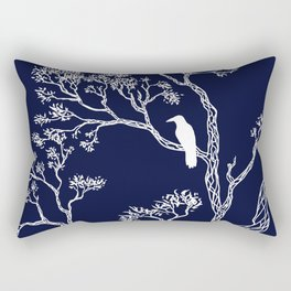 Crow in a tree Rectangular Pillow
