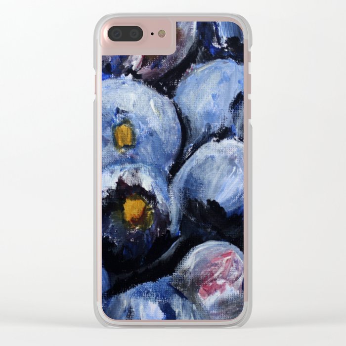Blueberries - Still Life In Acrylics Original Fine Art Clear iPhone Case