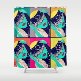 Iriana- Serie Viva La Femme Shower Curtain