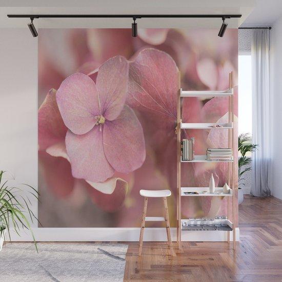 Hortensia Flower Pink Hydrangea #decor #society6 #buyart by pivivikstrm