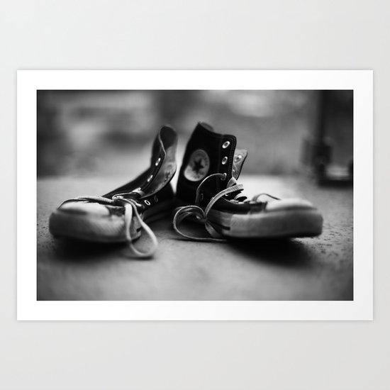 Converse High-tops  Art Print