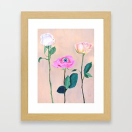 Beauty is in the Eye Framed Art Print