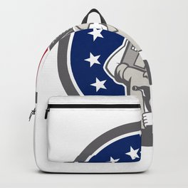 American Building Contractor USA Flag Icon Backpack