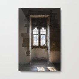 Bright Shadow of an Old Window   Castle Tower of London   Color Photography   Travel Photography    Metal Print