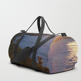 Sunset Canary Islands forest and Volcano Teide in Tenerife Duffle Bag