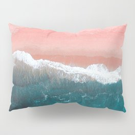 Turquoise Sea Pastel Beach II Pillow Sham
