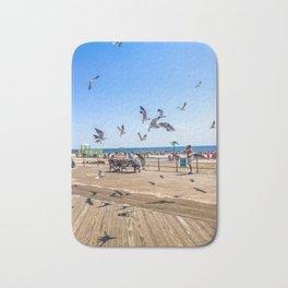 Seagulls of Coney Island Bath Mat