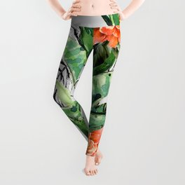 Collage of florid nature Leggings