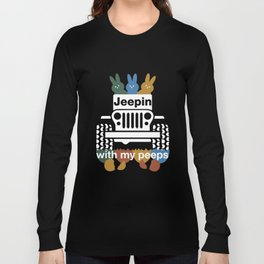 jeepin with my peeps jeep t-shirts Long Sleeve T-shirt
