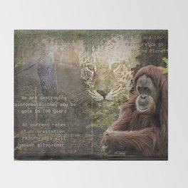 Rain forest Story Throw Blanket