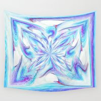 pantone Wall Tapestries featuring Butterfly - Pantone by Bella Mahri-PhotoArt By Tina