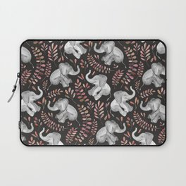 Laughing Baby Elephants - Coral Laptop Sleeve