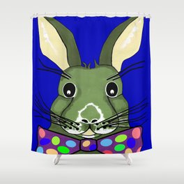 Easter Bunny Blue Shower Curtain