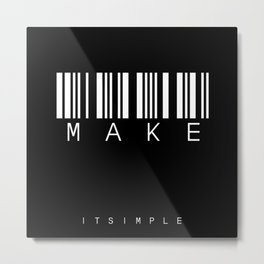 barcode MAKE Metal Print