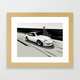 Datsun 240ZG G-Nose (White) Framed Art Print