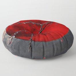 Modern Blood Red Moon Rain Gothic Decor A175 Floor Pillow
