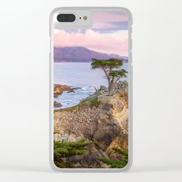 Lone Cypress Spring Sunset Clear iPhone Case