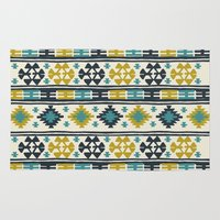 kilim Area & Throw Rugs featuring Alamosa 4 by Little Brave Heart Shop