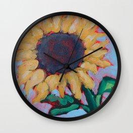 Blue Sunflower Wall Clock