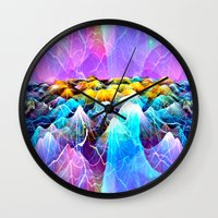 data Wall Clocks featuring Data Sea by NatalieCatLee