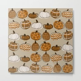 Pumpkin Party in Almond Metal Print
