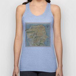 Vintage Map of San Francisco (1915) Unisex Tank Top