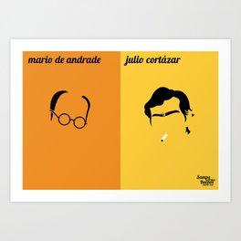 Mário de Andrade x Julio Cortázar Art Print